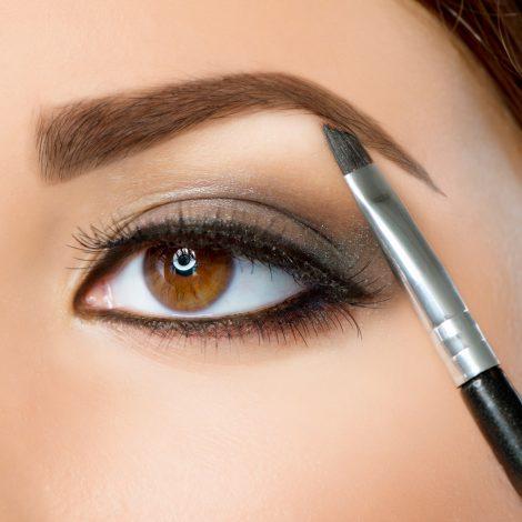 Make-up. Eyebrow Makeup. Brown Eyes